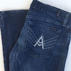 """7 For All Mankind """"A"""" Embellished Pocket Jeans"""